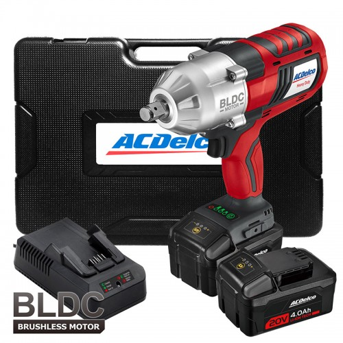 Twin Pack Drill+1//2Impact Wrench 2Ah ACDelco ARK2096I 18V